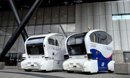 two autonomous SWARM pods